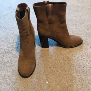 Kate Spade Brown Suede Booties Size 8